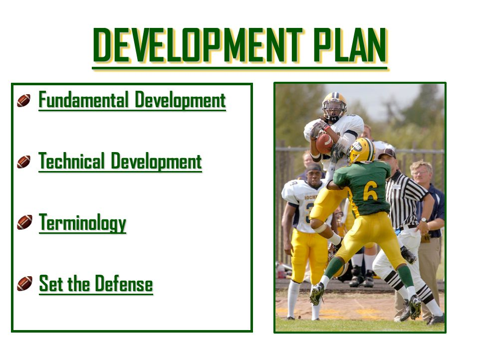 DEVELOPMENT PLAN DEVELOPMENT PLAN DEVELOPMENT PLAN DEVELOPMENT PLAN Fundamental Development Fundamental Development Fundamental Development Technical