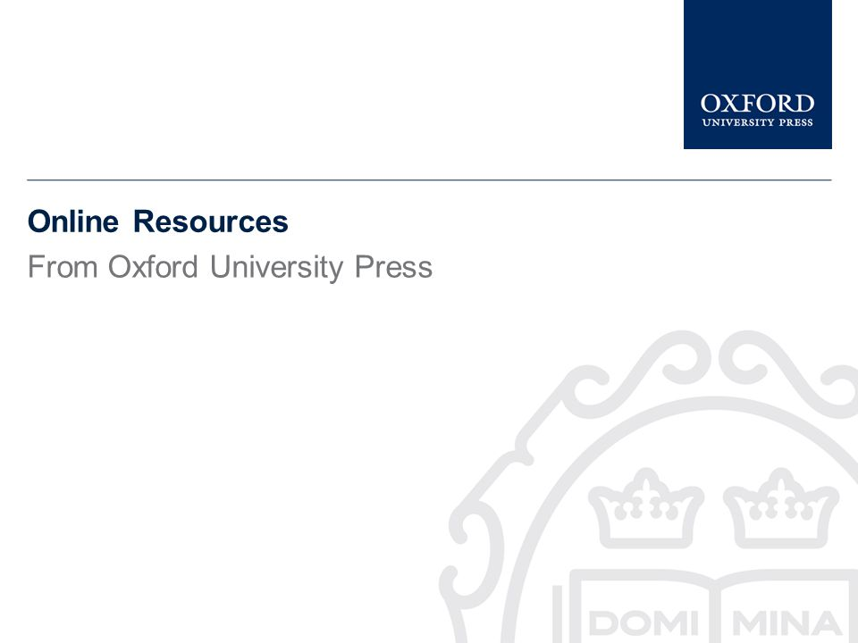 Use the Oxford Index, to find other related publications amongst Oxfords digital academic content.