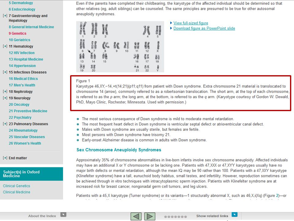 To return more focused results use the Advanced search. Karyotype 46