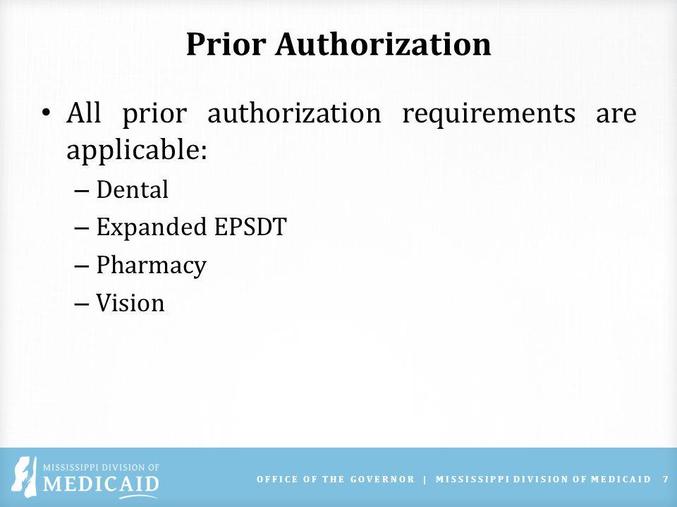 EPSDT PROGRAM Shanda Boarden, RN – EPSDT Program OFFICE OF THE GOVERNOR | MISSISSIPPI DIVISION OF MEDICAID18