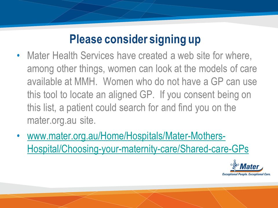 www.materonline.org.au/services/maternity/health- professional-information/guidelines-and-policies