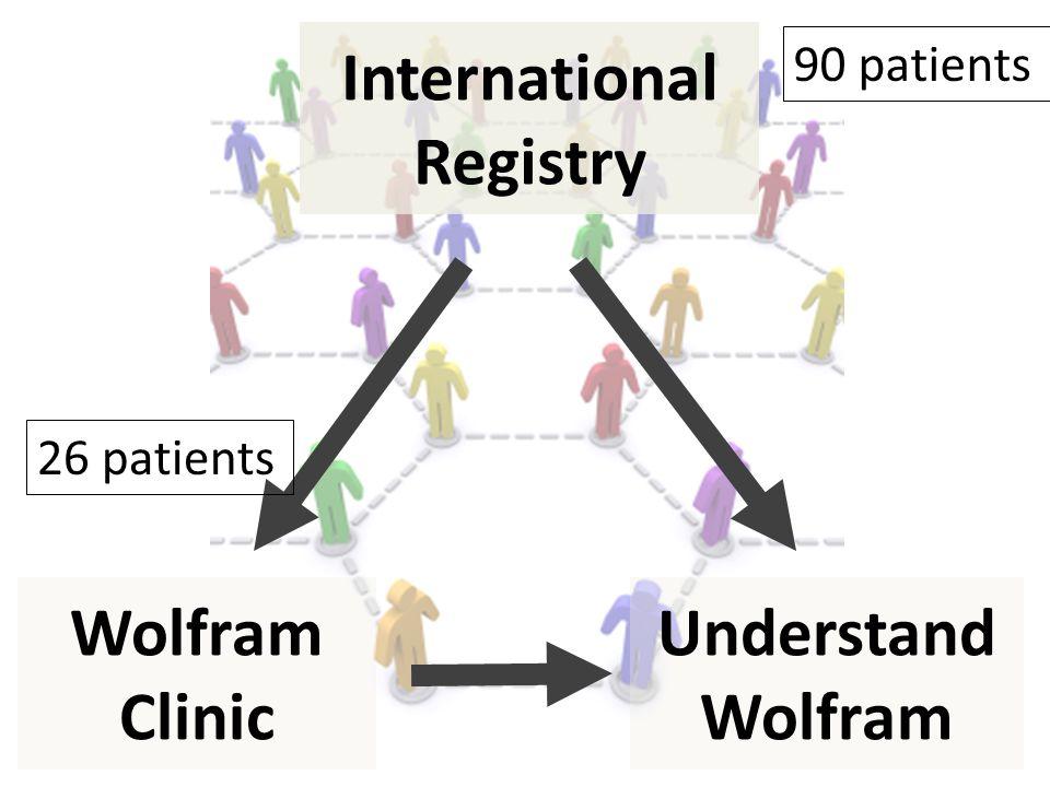 Understand Wolfram International Registry Wolfram Clinic 90 patients 26 patients
