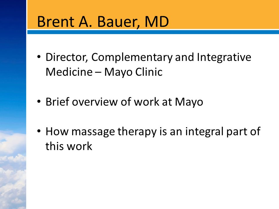 3031090-3 Decreased Massage Therapy – Mayo Clinic Pilot Trial 58 cardiac surgery patients Cutshall, Comp.