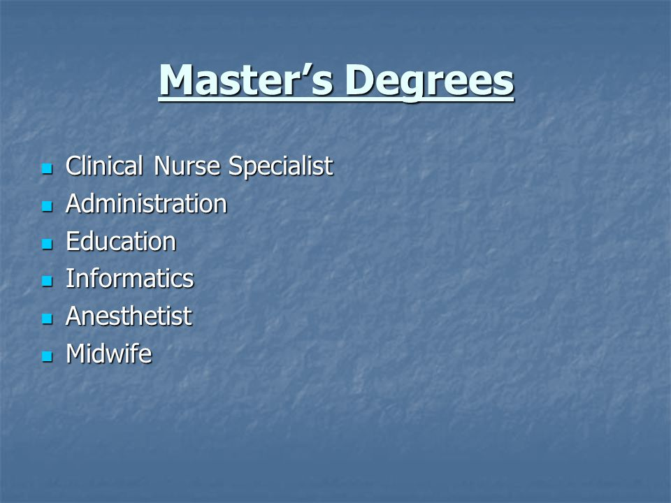 Doctorate in Nursing Research Research Nurse Practitioner Nurse Practitioner Administration Administration Education Education