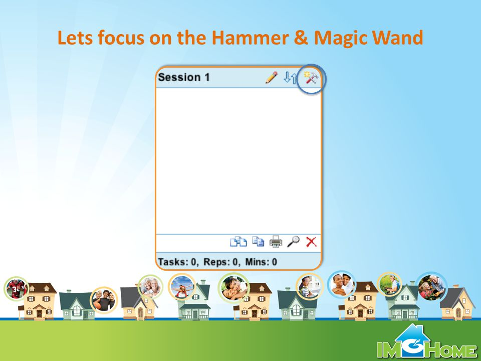 Lets focus on the Hammer & Magic Wand