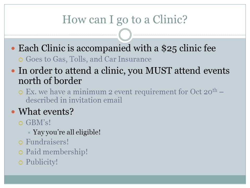 How can I go to a Clinic.