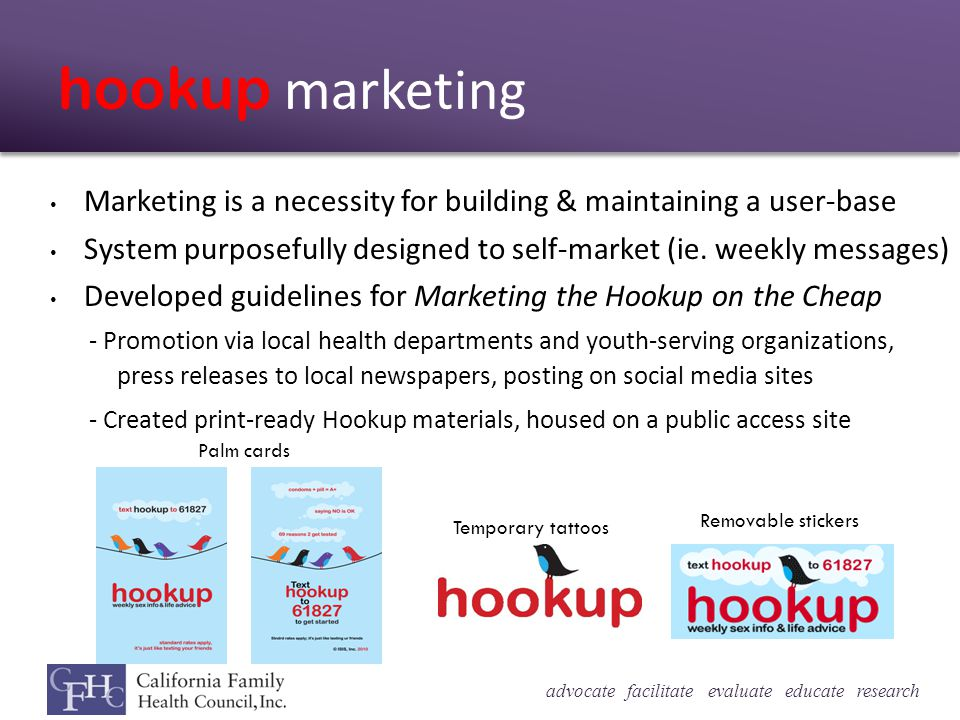 hookup marketing Marketing is a necessity for building & maintaining a user-base System purposefully designed to self-market (ie.