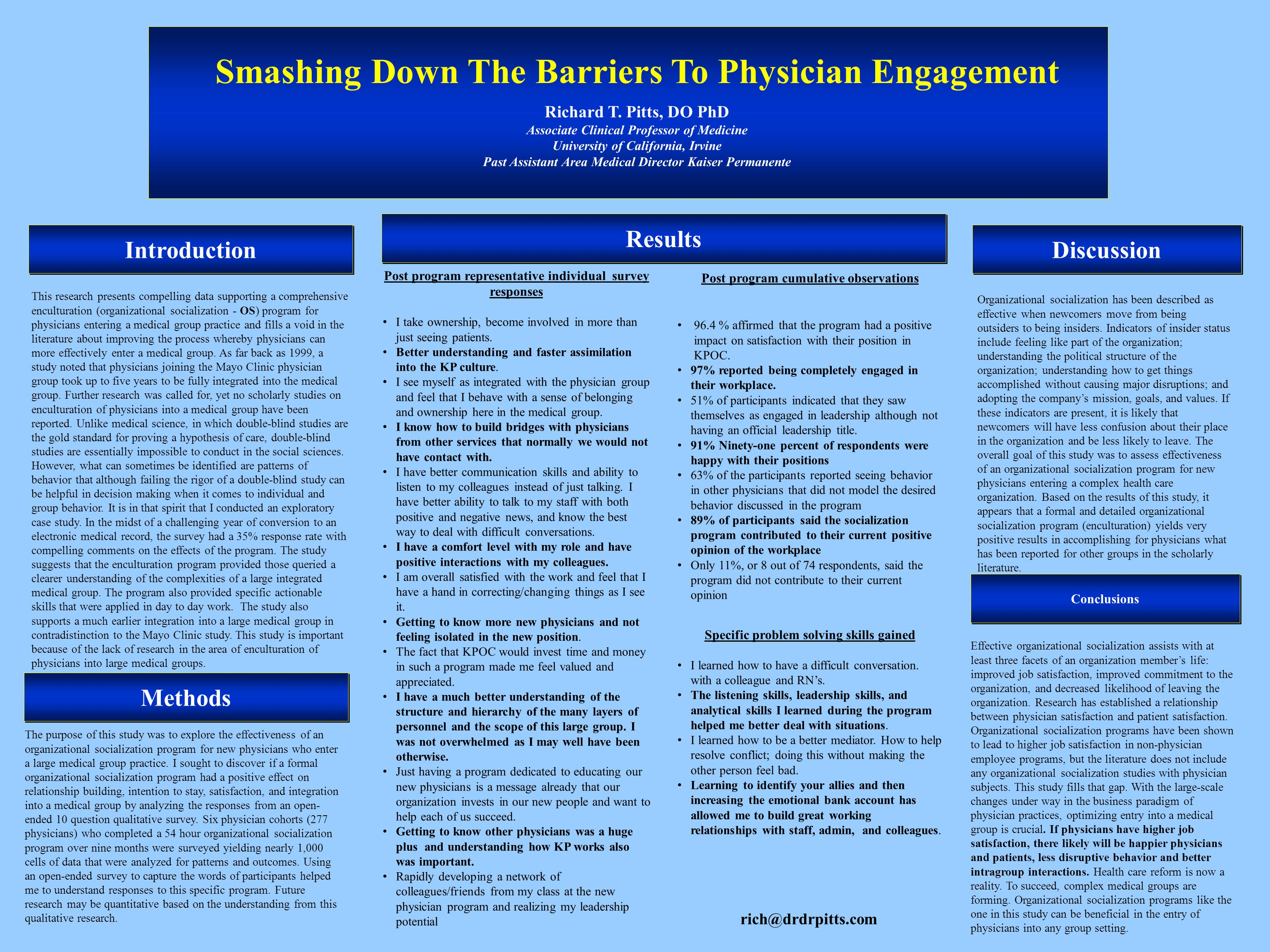 Introduction Smashing Down The Barriers To Physician Engagement Richard T.