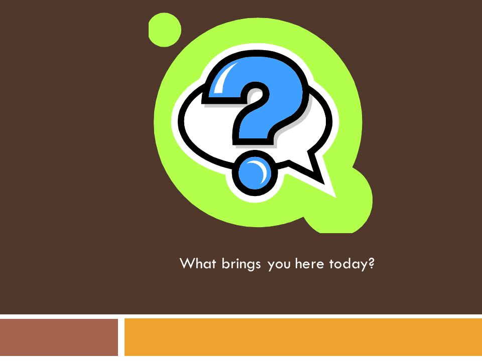 What brings you here today?
