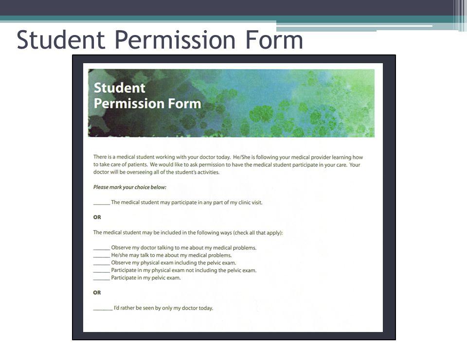 Student Permission Form