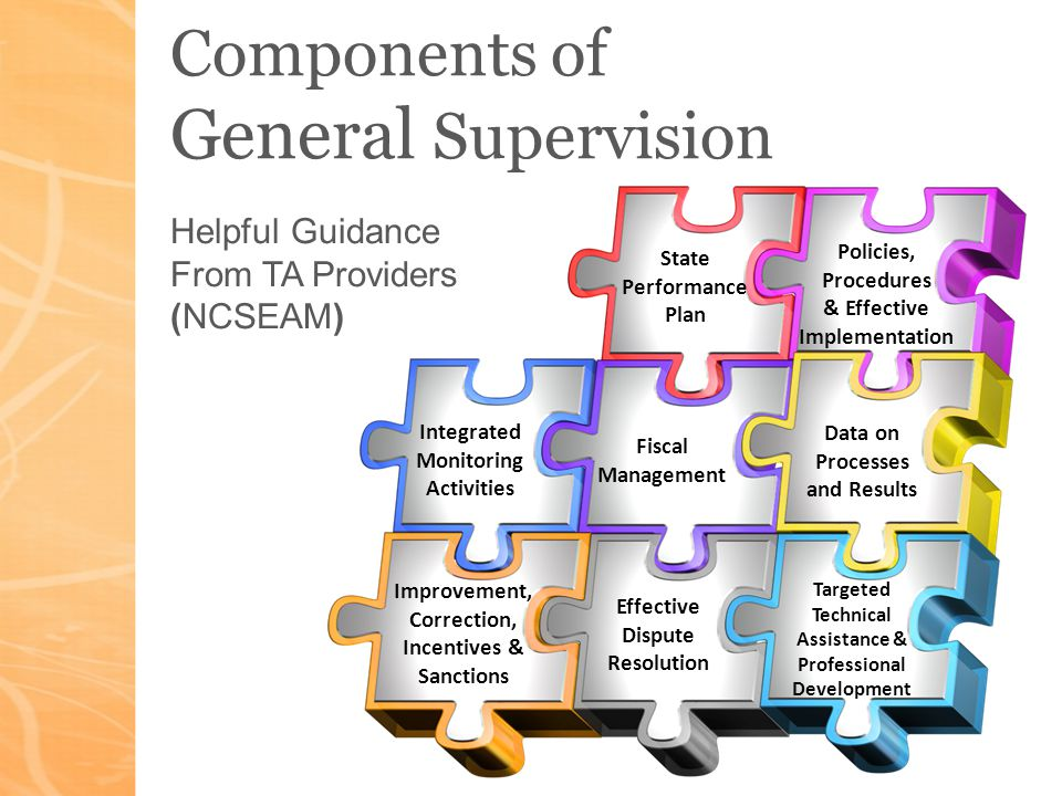 According to OSEP Five Critical Elements of General Supervision: 1.