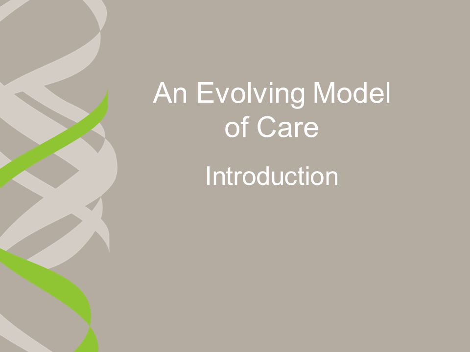 An Evolving Model of Care Introduction