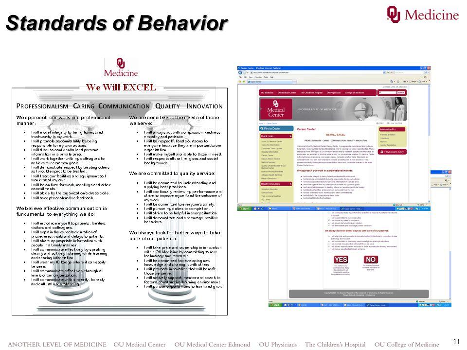 11 Standards of Behavior