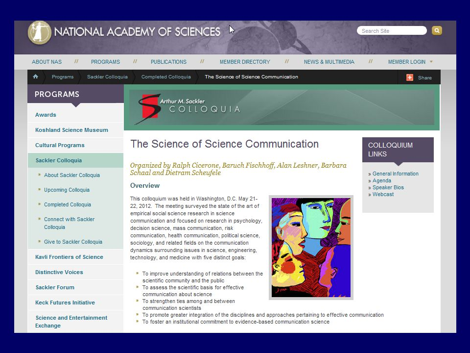 1.The science communication problem 2.The neutrality communication problem 3.