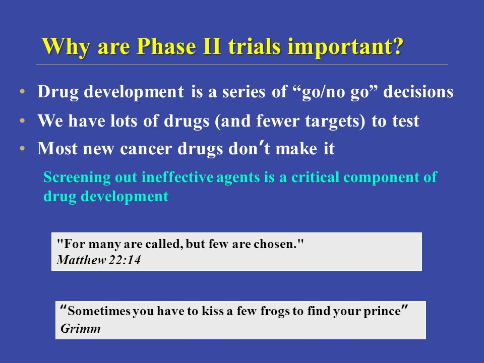 Why are Phase II trials important.