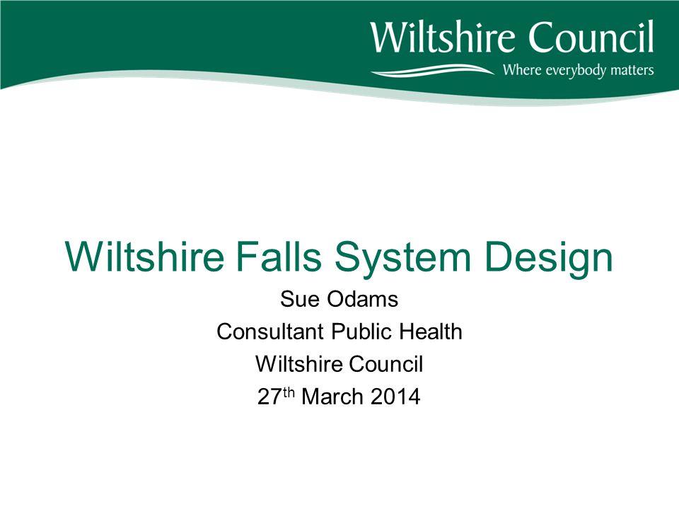Wiltshire Falls System Design Sue Odams Consultant Public Health Wiltshire Council 27 th March 2014