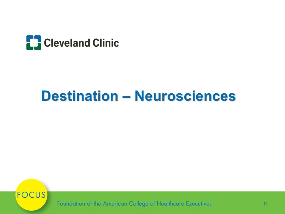 11 Destination – Neurosciences