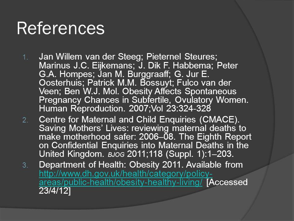 References 1. Jan Willem van der Steeg; Pieternel Steures; Marinus J.C.