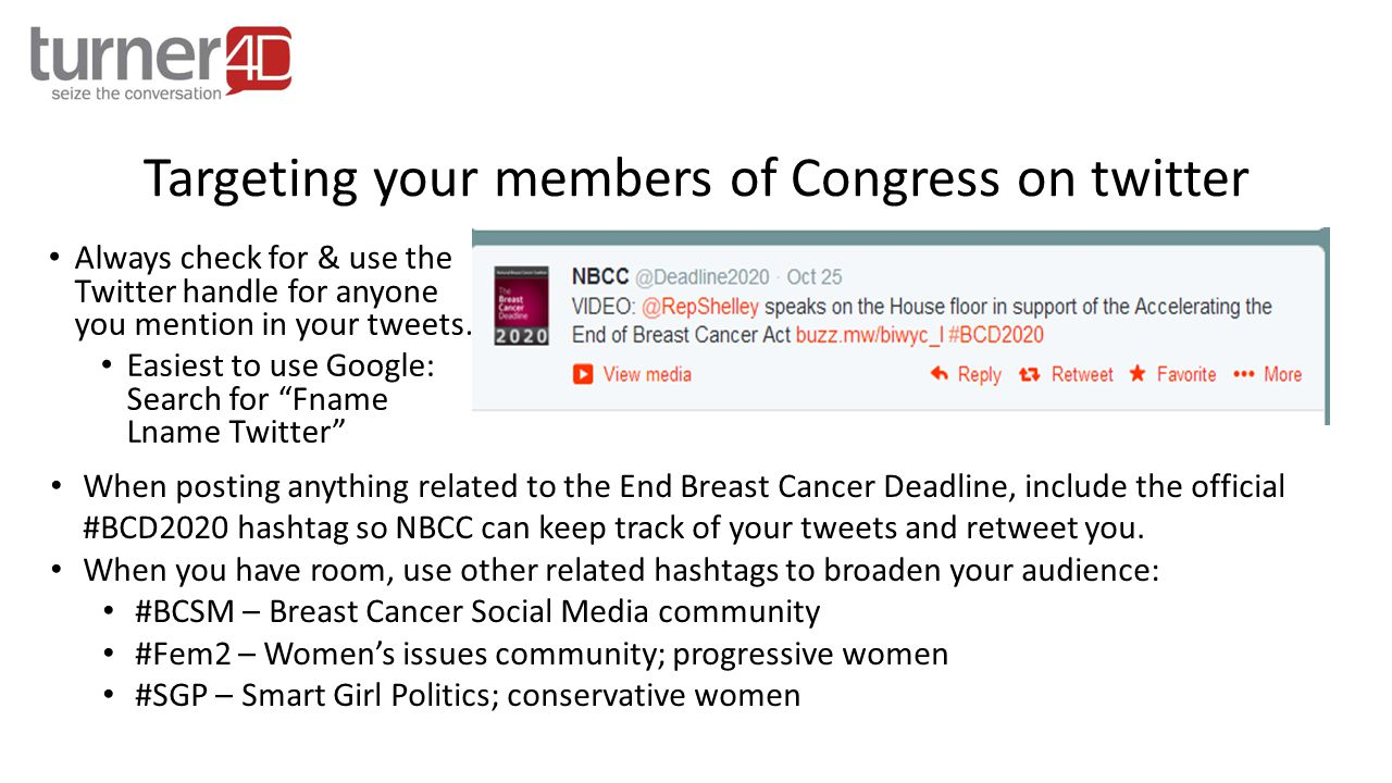 If you are referring to a specific Bill, make sure to use the hashtag related to this specific Bill.