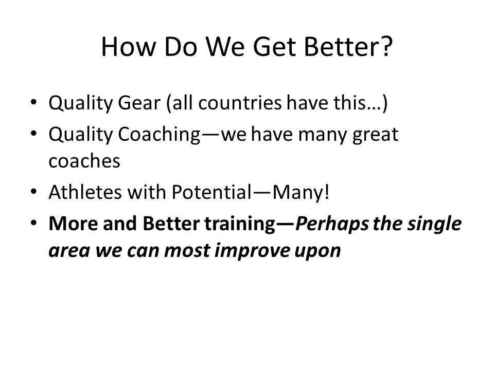 How Do We Get Better.