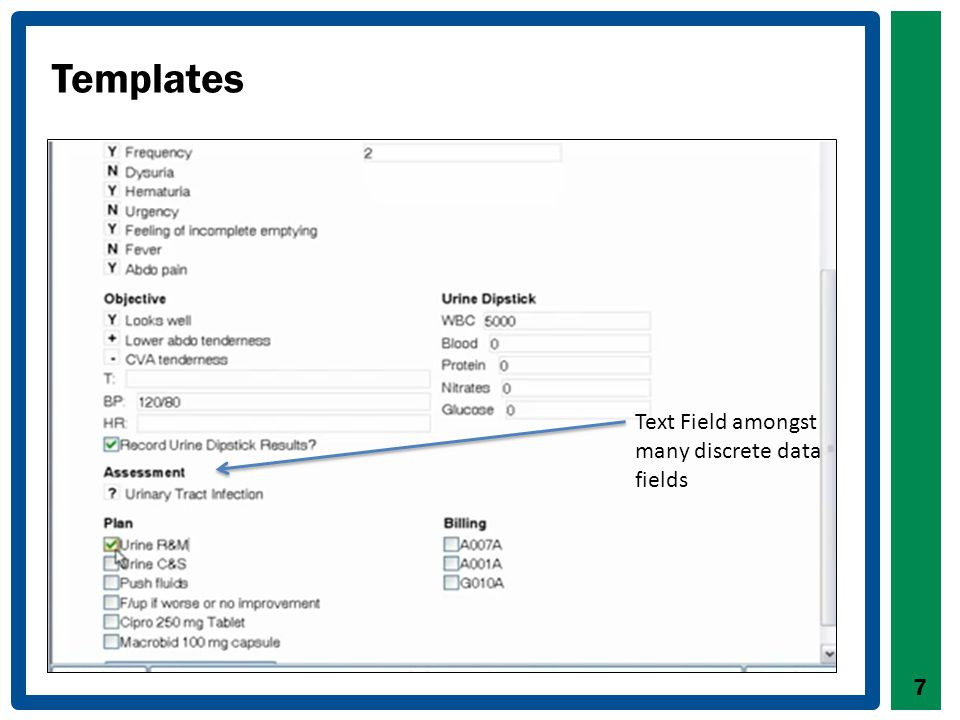 EMR Capabilities Relevant to Screening Track data over time Identify and sort patients Identify patients who are due/overdue for screening Monitor parameters, such as vaccinations and BP readings Messaging between team members Create reports Generate, print and store requisitions Fax from within EMR to lab or diagnostic imaging sites 8