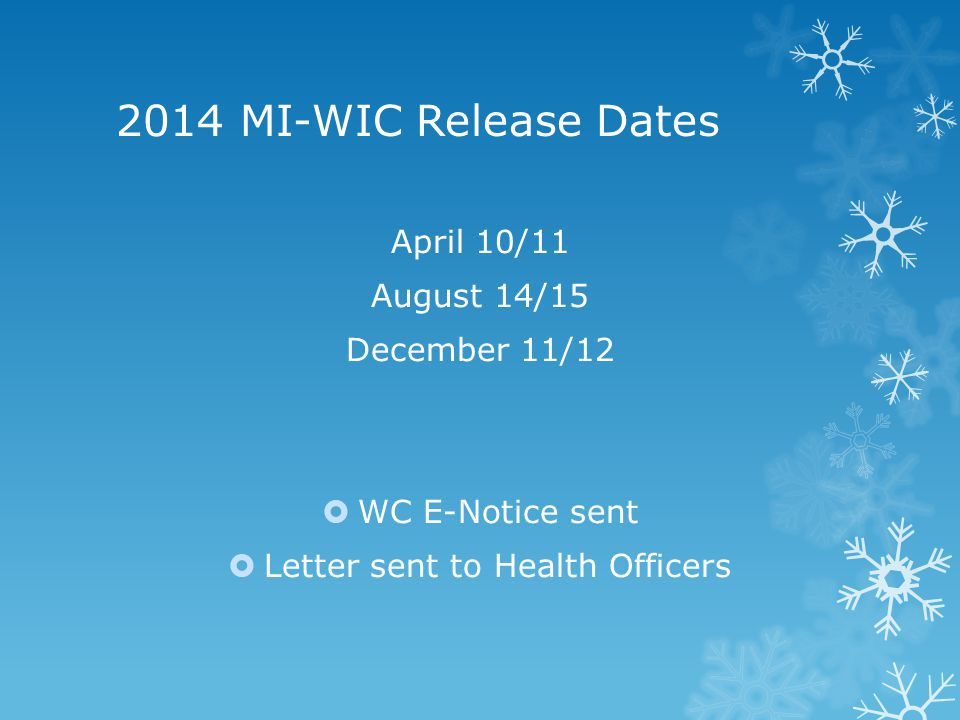 Client Portal Available starting 12/20/13 at Michigan.gov/wic