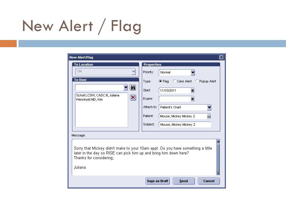 New Alert / Flag
