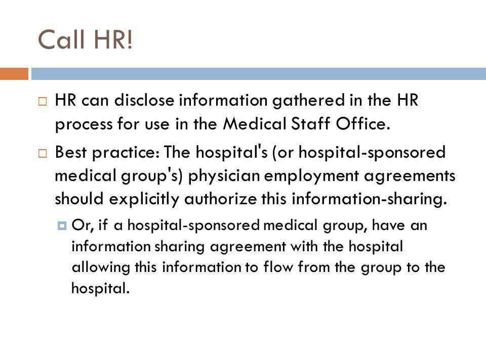 Call HR.