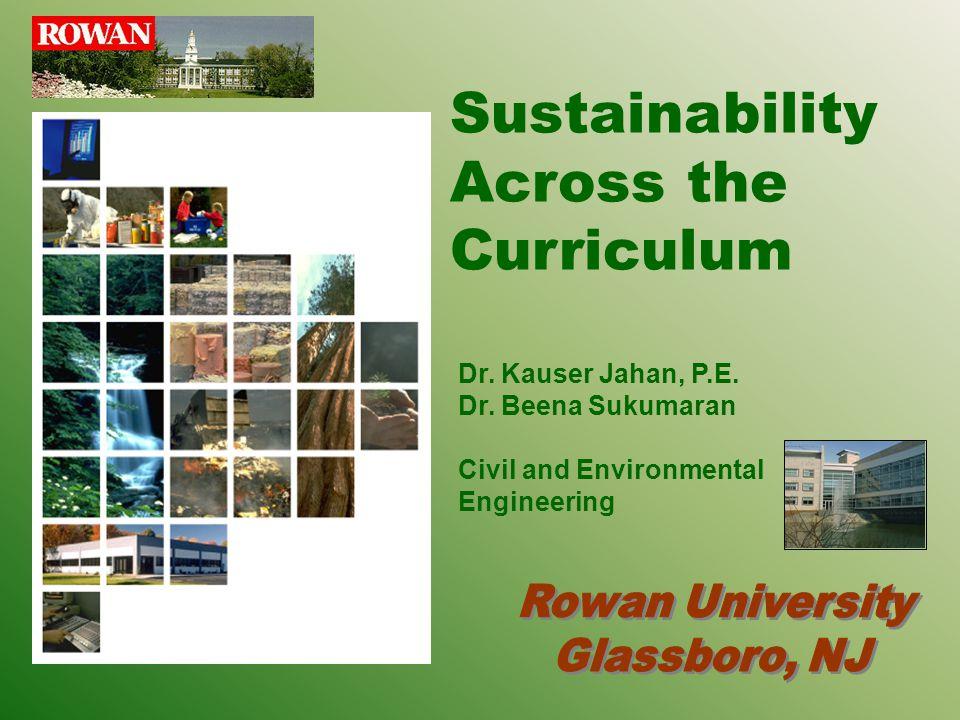 Sustainability Across the Curriculum Dr.Kauser Jahan, P.E.