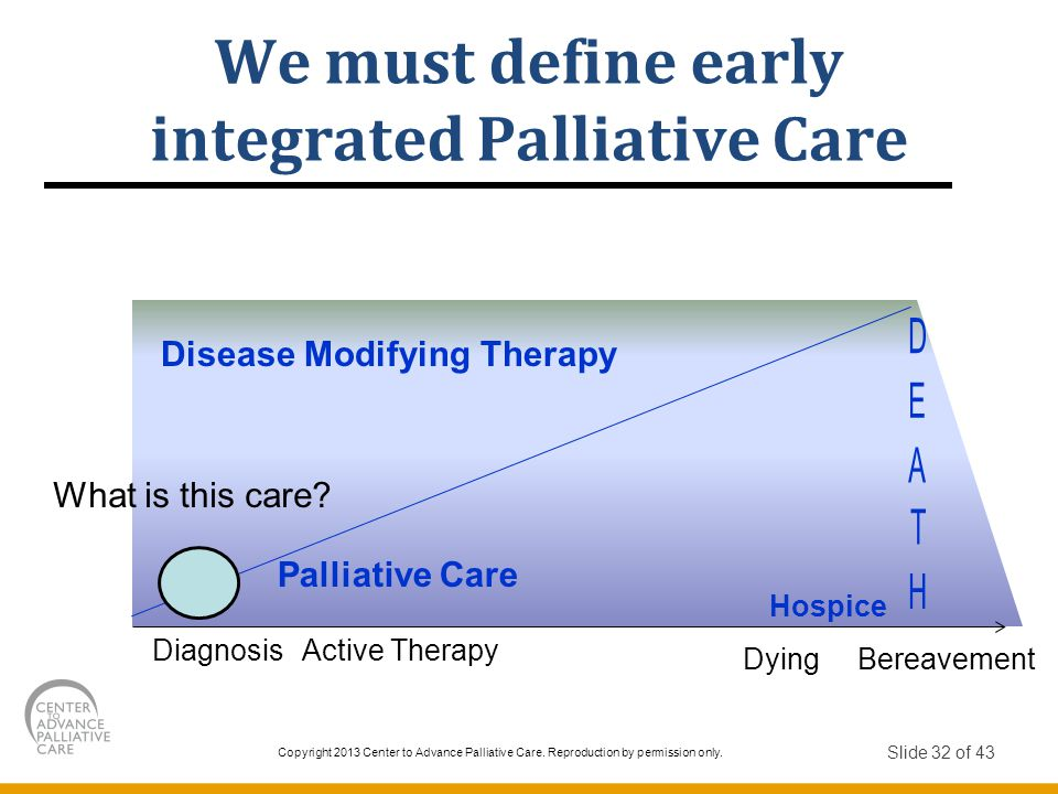 Copyright 2013 Center to Advance Palliative Care.Reproduction by permission only.
