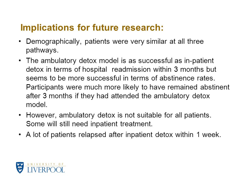 Implications for future research: Demographically, patients were very similar at all three pathways.