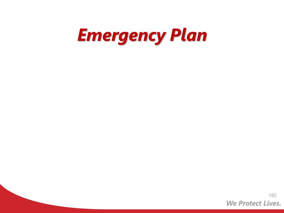 Emergency Plan 190