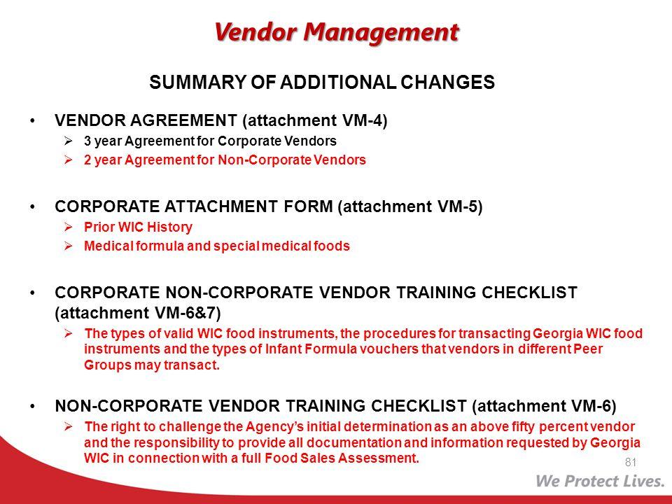 VENDOR AGREEMENT (attachment VM-4) 3 year Agreement for Corporate Vendors 2 year Agreement for Non-Corporate Vendors CORPORATE ATTACHMENT FORM (attach