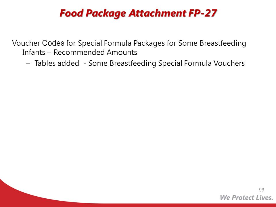 Voucher Codes for Special Formula Packages for Some Breastfeeding Infants – Recommended Amounts – Tables added - Some Breastfeeding Special Formula Vo