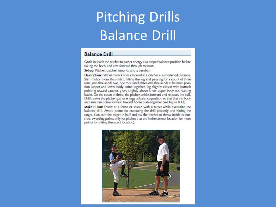 Pitching Drills Balance Drill
