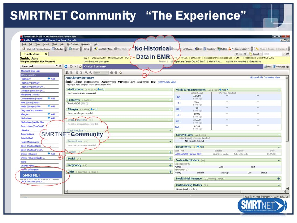 SMRTNET Community The Experience No Historical Data in EMR SMRTNET Community SMRTNET Community Data
