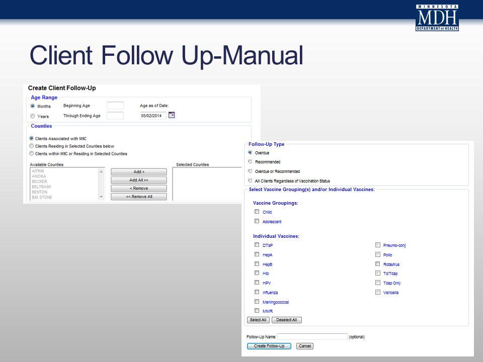 Client Follow Up-Manual