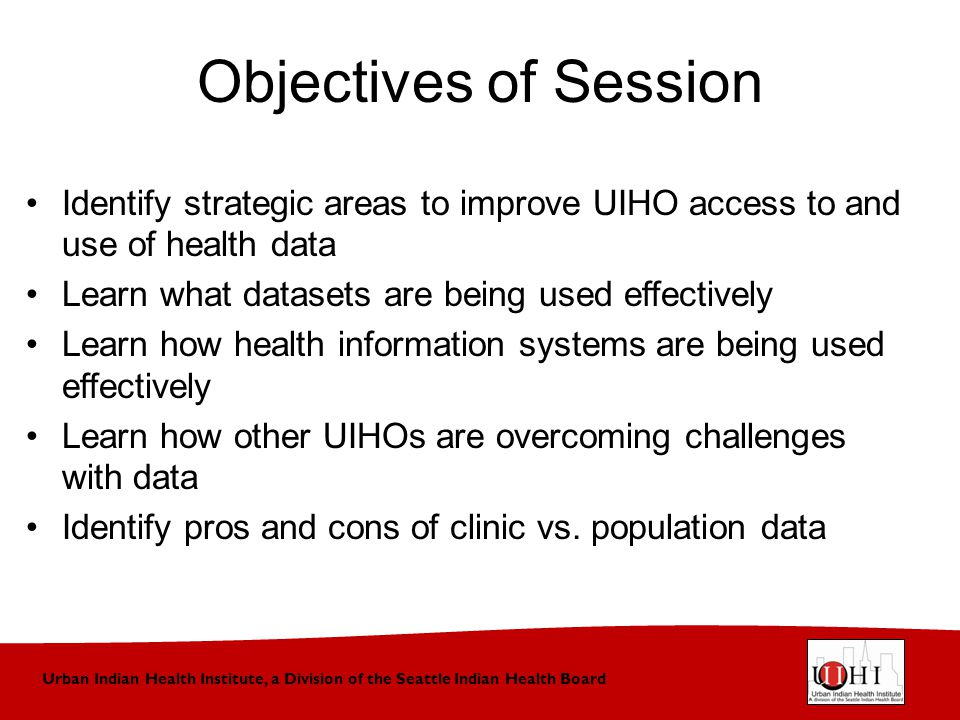 Urban Indian Health Institute, a Division of the Seattle Indian Health Board Questions Do you have the data you need.