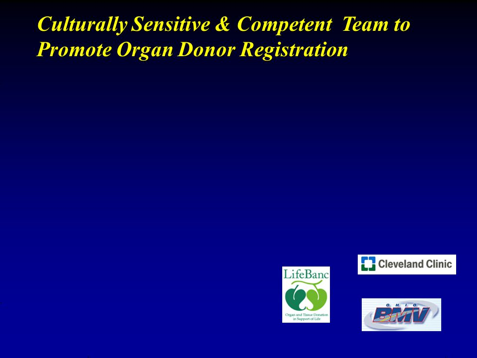 Culturally Sensitive & Competent Team to Promote Organ Donor Registration