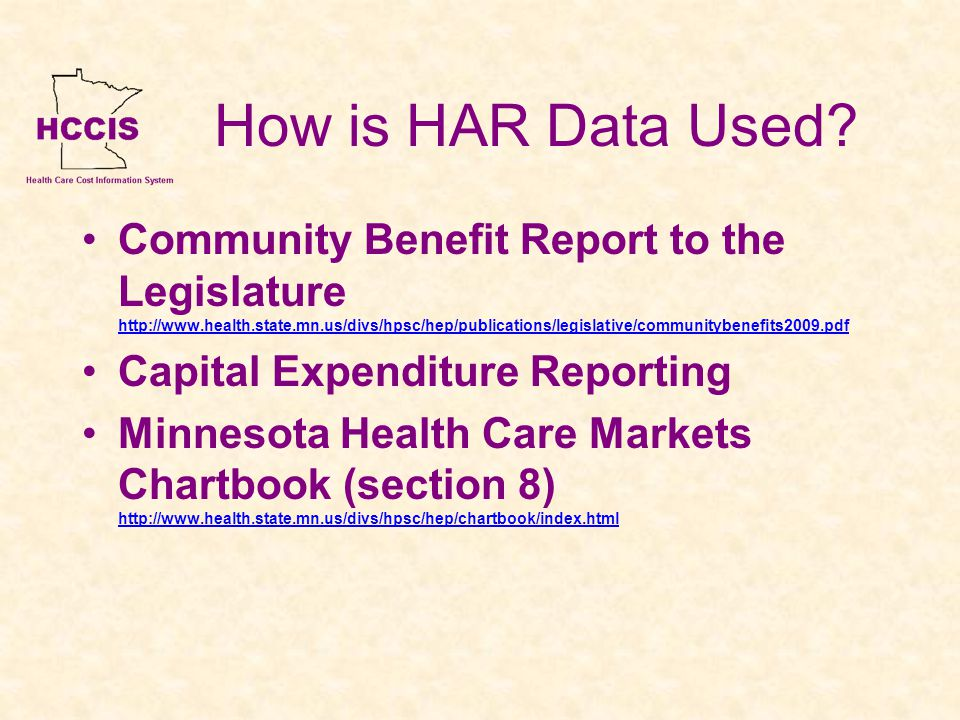 How is HAR Data Used.