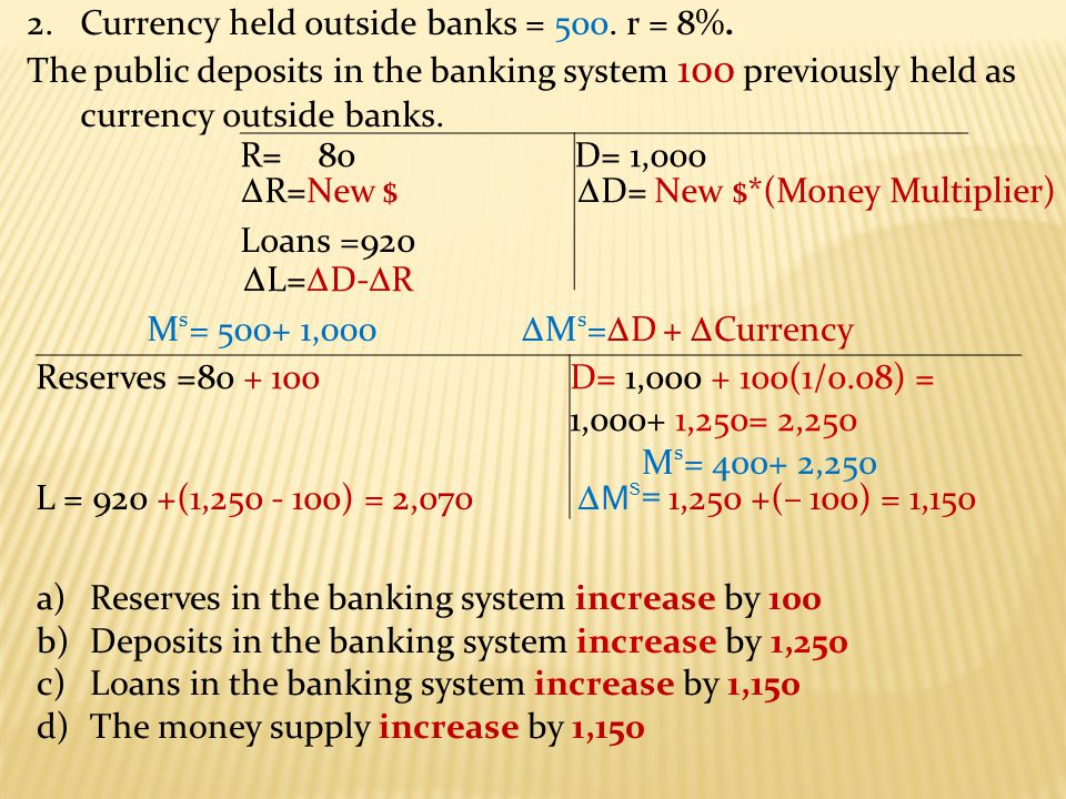 2.The following is the T-Account for the entire banking system.