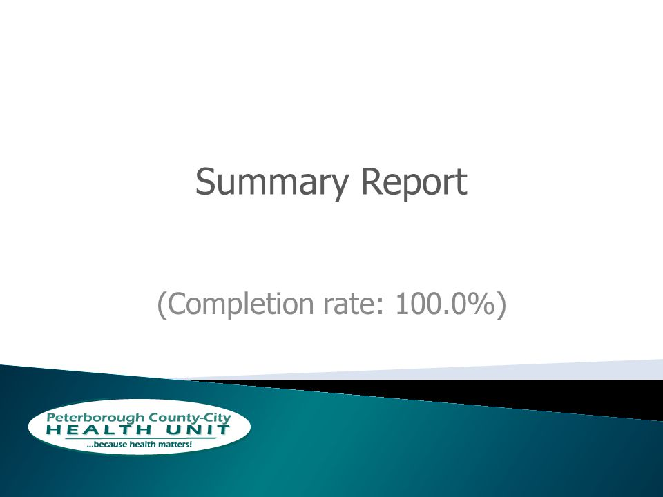 Summary Report (Completion rate: 100.0%)