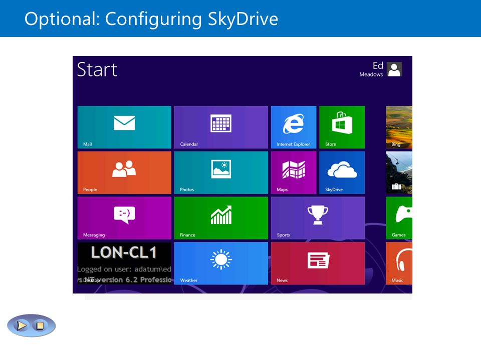 Optional: Configuring SkyDrive