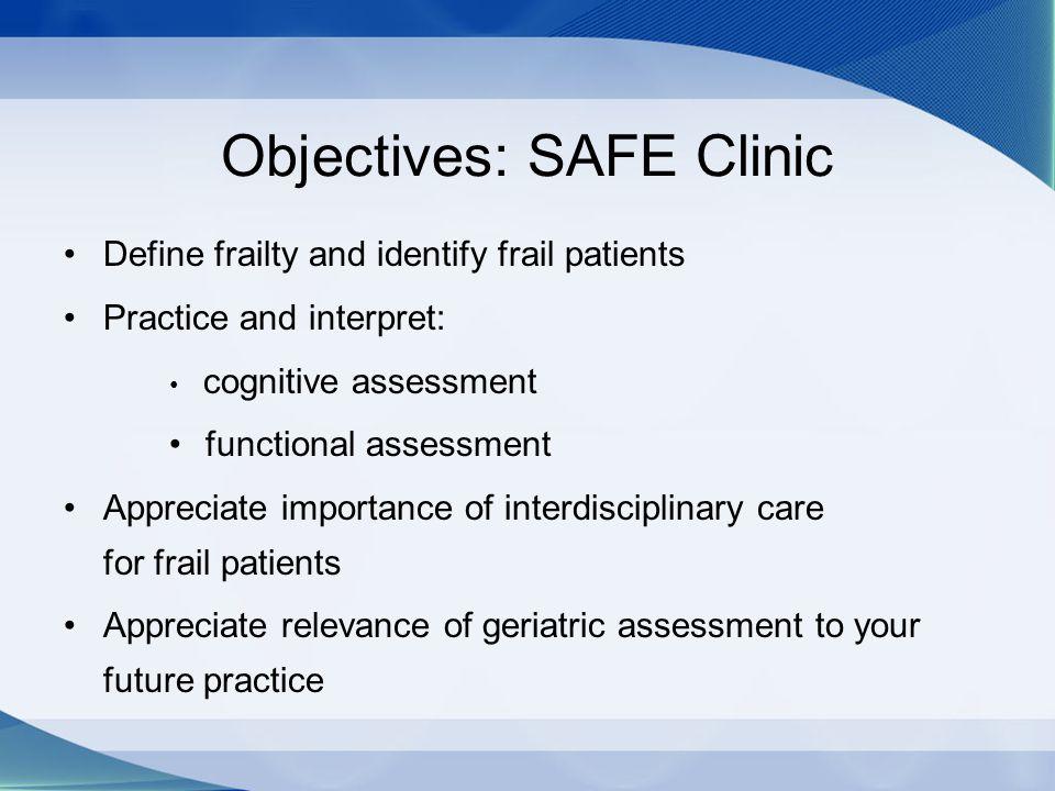 Frailty Assessment as a Prognostic Tool: Survival by Frailty Stratification