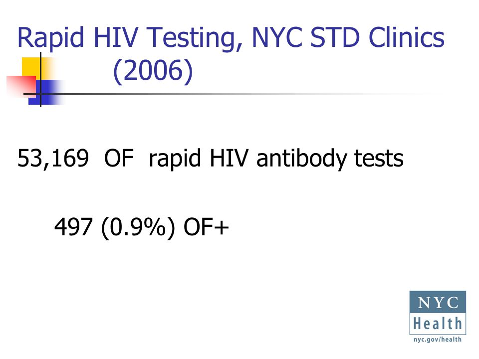Evaluation of Revised HIV Rapid Testing Algorithm Objective: Evaluate predictive value of using FS results to guide patient management