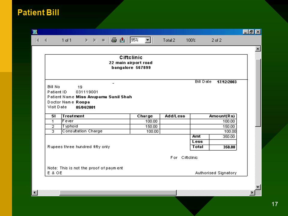 17 Patient Bill