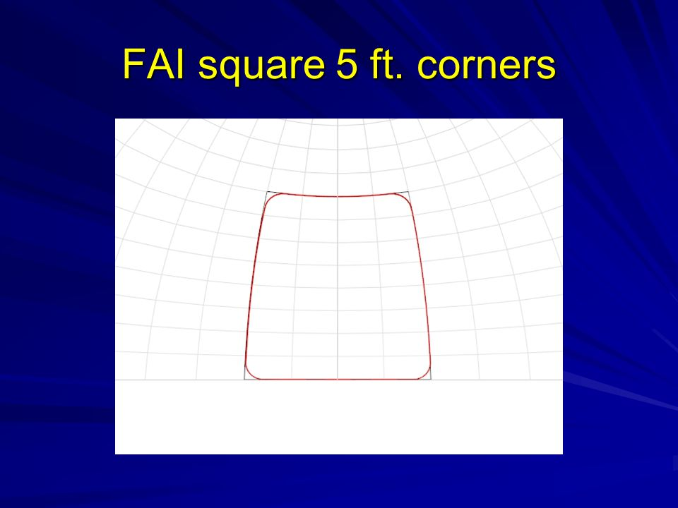 FAI square 5 ft. corners