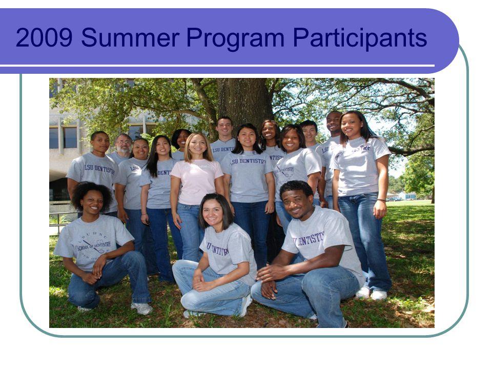 2009 Summer Program Participants
