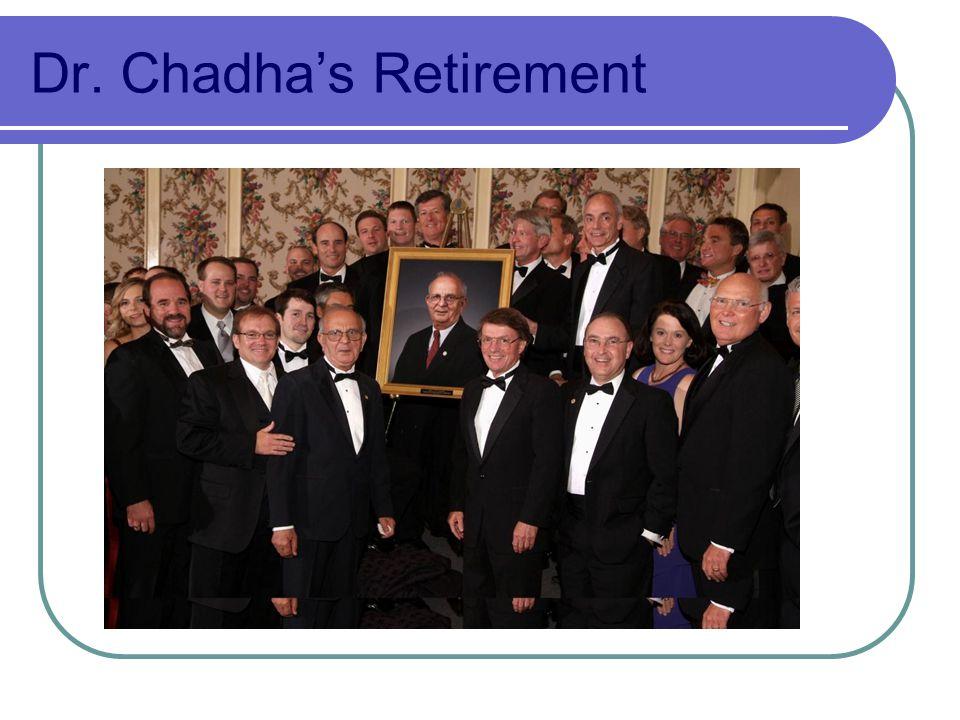 Dr. Chadhas Retirement