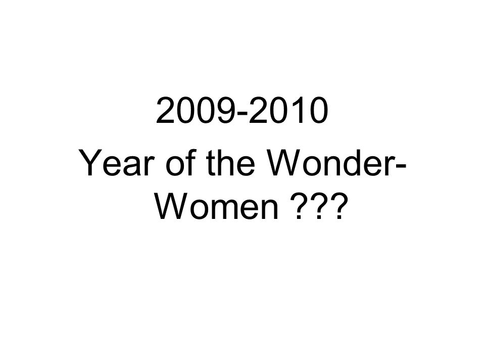 Year of the Wonder- Women
